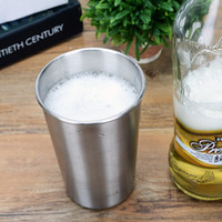 Wholesale Mini Beer Coolers - 16oz   475ml Stainless Steel Pint Cups Tumbler Beer Mug Travel & Cooler Mugs Party Camping Picnic Juice Cup Drop Resistance 100pcs free DHL