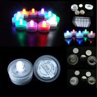 Wholesale led tea lights battery - Candle light LED Submersible Waterproof Tea Lights battery power Decoration Candle Wedding Party Christmas High Quality decoration light