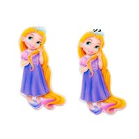 Wholesale Cabochons Kids - 30Pcs My Little Girl Princess Resin Planar Flatback Cartoon Cabochons DIY Kids Girls Party GIFT Jewelry Embellishment