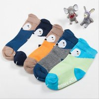 Baby Fox Socks Newborn Inverno Floor Socks Toddler Algodão Anti Slip Glue Calçado Kids Fashion Slipper Socks Cartoon Non-slip Booties B3037