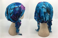 Wholesale muslim scarf for sale - Group buy Hot Multicolor Summer fashion women s beach scarf Hijabs Muslim headscarf with elasticity Chemotherapy hat different printings