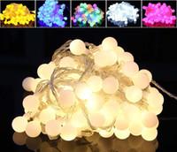 açık renkli çok renkli ışıklar toptan satış-Toptan 10 M 100 LED Topları Küre Peri LED Dize Işık Ampüller Renkli Parti Düğün Noel Bahçe Açık Dekor 220 V AB Tak ZJ0094