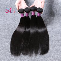 """Wholesale grade 6a hair extensions - Brazilian Remy Hair 6A Grade Straight Hair Weft 4pcs lot 1B Unprocessed Brazilian Straight Human Hair Weaves Extensions 8""""-28"""" Natural Color"""