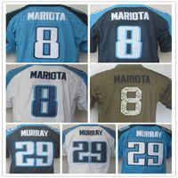 Wholesale Elite Stitch Football Jerseys - Men's 8 Marcus Mariota 29 DeMarco Murray Elite American Football Jerseys Top Quality Stitching Jersey Size:M L XL XXL XXXL