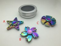 Wholesale Cheap Metal Stars - 2017 cheap price rainbow fidget spinner 5 leaves flower 5 star rainbow Pentagram hexagonal handspinner most popular fidget toys wholesale