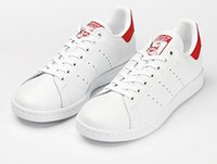 Wholesale Men S Shoes Red - Hot &#65didas stan smith sneakers casual leather men's and women 's sports running jogging shoes men fashion classic flats shoes