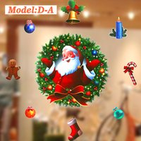 2017 Venda por atacado 3D novo design do fabricante chinês de Natal Papai Noel e Deer Decorations Window Static Sticker