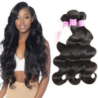 Wholesale dhgate indian remy hair for sale - Dhgate Bemiss On Sale Brazilian Virgin Human Hair Weaves Malaysian Hair Bundles Indian Peruvian Mongolian Cambodian Natural Color Body Wave