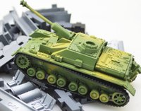 Wholesale German Tank Models - 4D assembly blocks German Tiger tanks artillery military intelligence DIY model toys for kids or between with their parents Cartoon puzzles