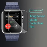 Wholesale Phone Guards - 0.26mm Tempered Glass 9H Proof Premium Protective Film Guard Smart Sport Watch Screen Protector for 38MM 42mm Smart Phone Watch