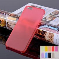 Wholesale Iphone 5c Plastic Matte - Ultra-thin 0.3mm Matte Transparent Back Case Soft Protective Cover For iPhone 7 7plus 5 5S 5c SE 6 6s 4.7 plus 5.5