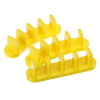 nails tips para venda venda por atacado-Venda imperdível !!! 3 Pcs Conjunto de Plástico Prego Art Tips Display Praticar Ferramentas Práticas Stand Titular Cor Aleatória