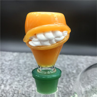 Wholesale Tooth Glasses - 14mm 19mm Teeth Glass Bowls Male Joint Glass Accessories Unique Design Hookahs Smoking Accessories Glass Bongs For Thick Joint