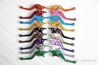 Wholesale Motorcycle Front Disc Brakes - Free shipping Motorcycle modified disc brake lever front-back disc brake lever electric motorbicycle brake lever cnc cut