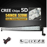 5D LED Offroad Licht Bar CREE Chips 54inch 520W Combo Beam Led Arbeit Licht Bar Lampe für Jeep Ford LKW ATV 4X4 4WD 12V 24V