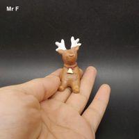 ingrosso figurine del fumetto-Mini Cartoon Cervo Figurine Miniature Decorazione natalizia Micro Ornamenti paesaggistici Artigianato Simulazione Regalo per bambini Materiale didattico