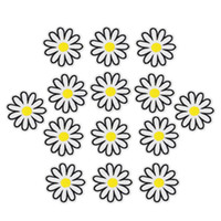 Wholesale 10pcs DIY Blossom Patches Clothing Iron Embroidered Patch Applique Iron On Patches Sewing Accessories Badge Stickers On Clothes Bag