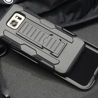 Wholesale Plastic Clip Holders - Newest Rugged Hard Plastic Armor Case with Belt Clip Impact Hybrid Holder Grand Prime for Sumsung S6 S8 PLUS S7 EDGE NOTE7 NOTE5