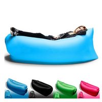 Wholesale Waterproof Outdoor Inflatable Air Sleeping Bag Hangout Lounger Air Boat Air Lazy Sofa Camping Sleeping Bed colors Free DHL