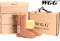 Wholesale Genuine Australia Boots - 2017 High Quality Classic WGG Brand Women popular Australia Genuine Leather Boots Fashion Women's Snow Boots US5--US13 Free Shipping