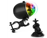 LED Colorful Bicycle Disco Effet DJ Stage Light Mini Portable USB Rechargable RGB Rotating Light avec clip de vélo (1PCS)
