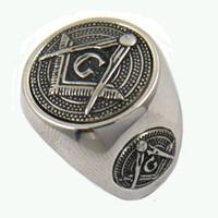 Wholesale Custom Made Band - Custom made stainless steel mens or wemens jewelry free masonary blue lodge master mason masonic rings brothers sisters gift 13W24