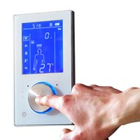 2017 Controlador de Ducha Digital de Válvula Controlador de Ducha de 3 Maneras LED Touch Control Termóstato Pantalla LCD Smart Mixer For Showers