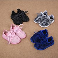 Wholesale Baby Train Shoes - Cheap Baby Kids Kanye West 350 Boost Children Athletic Shoes Boys Running Shoes Girls Casual Shoes Baby Training Sneakers Size 21-35