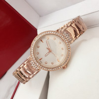 Wholesale girls watches online - 2018 Ultra thin rose gold woman diamond Fashion watches brand luxury nurse ladies dresses female Folding buckle wristwatch gifts for girls