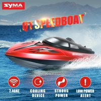 Wholesale electric boat remote control - Wholesale- Original SYMA Q1 Q2 RC Speed Boat 2.4G Remote Control Simulation Speed Craft Cooling Device Boat High Quality