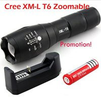Wholesale UltraFire E17 Torches G700 CREE XM L T6 LED Zoomable High Power Flashrglight Torch AAA Zoom Lamp Light battery charger