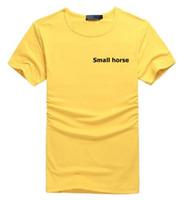 yabancı polo gömlekleri toptan satış-Fabrika doğrudan satış marka erkek Pony T-shirt 508 dış ticaret erkek t-shirt erkek kısa kollu polo gömlek