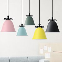 Wholesale Bow Lamp - Modern Colorful Bow tie Pendant Light Colorful Creative Pendant Lamp Bedroom Hanging Lamp Restaurant Home Light Fixtures
