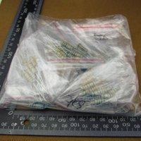 Wholesale 2w Resistor Kit - Wholesale- 230 pcs pack 2W Metal Film Resistors 22R-1M kit 23values X10pcs 230pcs 2W Metal Film Resistors Assorted Kit Sample bag #30146