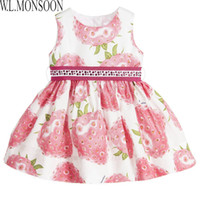 Wholesale Beach Clothes For Kids - Girls Princess Dress Spring Summer W.L.Monsoon Brand Kids Dresses for Girls Costumes Floral Robe Fille Children Dress Kids Clothes