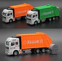 Wholesale Wholesale Garbage Trucks - Alloy Car Model Mini Diecast ABS Material Delicate Pull Back Toy for Kids Sanitation Garbage Trucks Transport Vehicle Toys Gift Cars