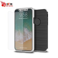 Wholesale Iphone Nice Design Case - Mobile phone case for iphone X with tpu pc Nice Design with tempered glass 360 protection Case cover