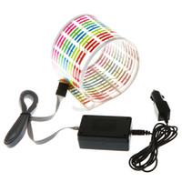 müzik aktif led araba ışıkları toptan satış-Araba Sticker Müzik Ritim LED Flaş Işık Lambası Ses Aktif Ekolayzer Araba Atmosfer Led Işık