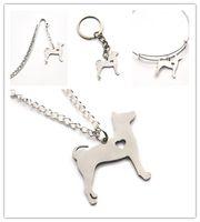 Wholesale pet rats - Rat Terrier dog necklace charm heart cute pet i love dogs charm pendant necklace bangle keyring bookmark