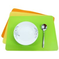 Wholesale western napkins - Thick silicone Bakeware Mat Sheet Placemat heat insulation pad napkin dining table tray mat coasters Western pad desk pad