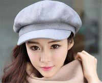 Wholesale Berets For Ladies - Wholesale- New Ladies Newsboy Beret Hat Cabbie Cap Visor Beret Dress Hat For Winter And Autumn