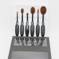 Wholesale Cream Piece - Makeup Brushes set 6 pieces set Oval Makeup Brush Cosmetic Foundation BB Cream Powder Blush Brushes kit from Macs