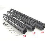 свободные стальные бочки оптовых-10, 12, 15 дюймов M-Lok Rail Free float hand guards подходят .223/5.56 тип сверхлегкий дизайн стальной ствол гайка