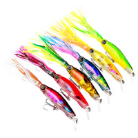 Wholesale hard plastic fishing lures online - 6 color cm g Squid Hard Plastic Lures Fishing Hooks Fishhooks D Eyes Fishing Lure Hook Artificial Bait Pesca Tackle Accessories