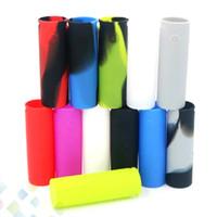capas de vapor venda por atacado-Vape caneta 22 silicon case casos de pele alienígena colorido suave capa de silicone manga pele para caneta vape 22 dhl livre