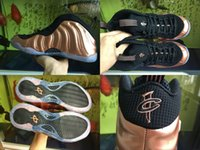 Wholesale Cheap Foams - Cheap Foams One Dirty Copper Men Basketball Shoes Penny Hardaway Bronze Gold Copper Foam One Pro Galaxry Sneakers Size US 8-13 With Box