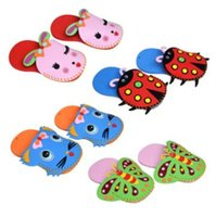 Wholesale Baby Stickers Craft - 1 Pcs EVA Slippers New Arrival Kids DIY Handmade Eva Foam Stickers Craft Puzzle Baby Educational Early Learning Toys