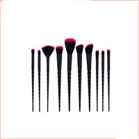 Wholesale form plastic - Hot sale black handle 10pcs thread form makeup brushes makeup tools high quality free shipping dhgate vip seller