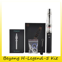Wholesale Pink H5 - Beyang H-Legend-5 E hookah Kit Legend H5 E Hooka Mod With 18650 Lithium Battery Vaporizer Water Filter Installation 100% Genuine