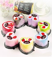 Wholesale Heart Cake Towel - 7 color 20*20cm Square Cake Towel Romantic Valentine's Day gift,Wedding Birthday Favors Boutique Heart cake towel strawberry cake towel